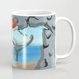 Prehistoric Dinosaur Tyrannosaurus Enters the 21st Century Coffee Mug