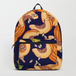 Pumpkin night life Pattern Backpack