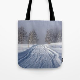 Yellowstone National Park - Road to Mud Volcano Tote Bag