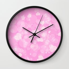 Abstract pink valentines love texture. Wall Clock