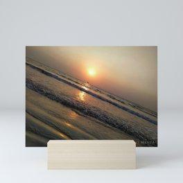 Sunset Golden Glow Mini Art Print