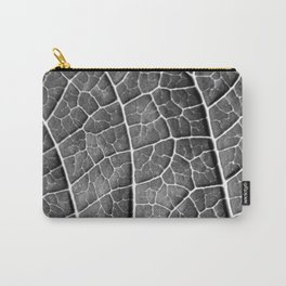 LEAF STRUCTURE BLACK AND WHITE Carry-All Pouch