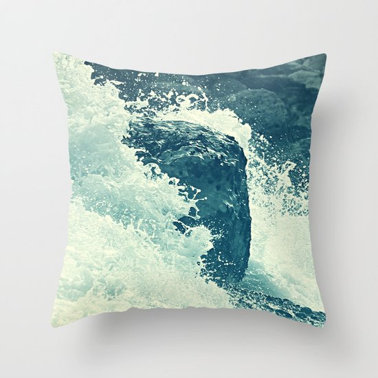 The Sea I. Throw Pillow