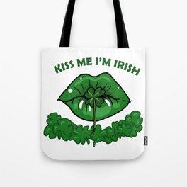 St Patricks Day For Women Green Lips Shamrock Gift Tote Bag