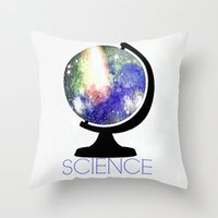 science Throw Pillows featuring Science! by Bunhugger Design