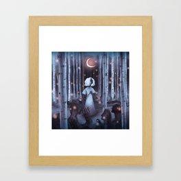 Pale Rainbow - Forest Framed Art Print