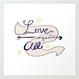 Love conquers all Art Print