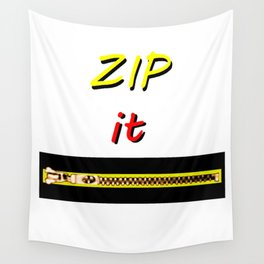 Zip it Black Yellow Red jGibney The MUSEUM Gifts Wall Tapestry