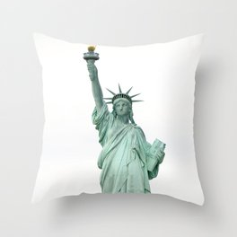 Statue Of Liberty photography Throw Pillow