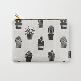 Southwestern Stamped Potted Cactus + Succulents Carry-All Pouch