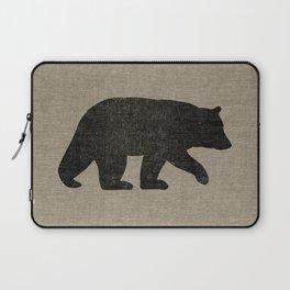 Black Bear Silhouette Laptop Sleeve