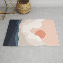 Abstraction_SUN_CLOUD_MOUNTAINS_ART_Minimalism_001A Rug