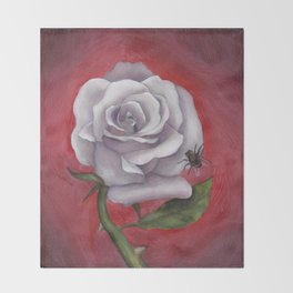 White Rose Throw Blanket