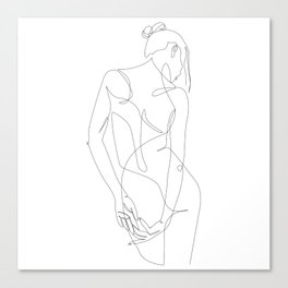 ligature - one line art Canvas Print