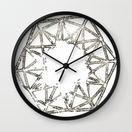 Melted geometry Wall Clock