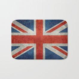 """UK Union Jack flag """"Bright"""" retro grungy style Bath Mat"""