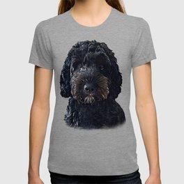 Black Cockapoo / Doodle Dog Portrait  T-shirt