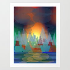 Alpine Sunset Art Print