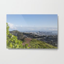 San Francisco Skyline from Mt. Davidson Metal Print