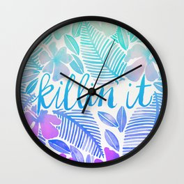 Killin' It – Turquoise + Lavender Ombré Wall Clock
