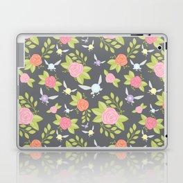 Garden of Fairies Pattern in Grey Laptop & iPad Skin
