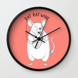 Rat singing UB40 | Animal Karaoke | Illustration | Red Wall Clock