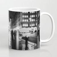 new york city Mugs featuring New York City Noir by Vivienne Gucwa
