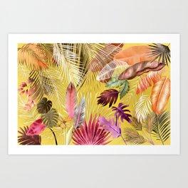 Tropical Foliage 07 Autumn Color Art Print