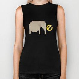 E for Elephant Biker Tank