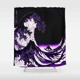 The Great Wave : Purple Shower Curtain