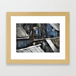 Couples in the Slums Framed Art Print