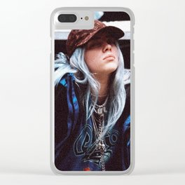 Billie Eilish with a LV hat Clear iPhone Case