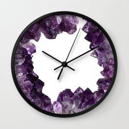"""Look within"" Amethyst Crystal frame Wall Clock"