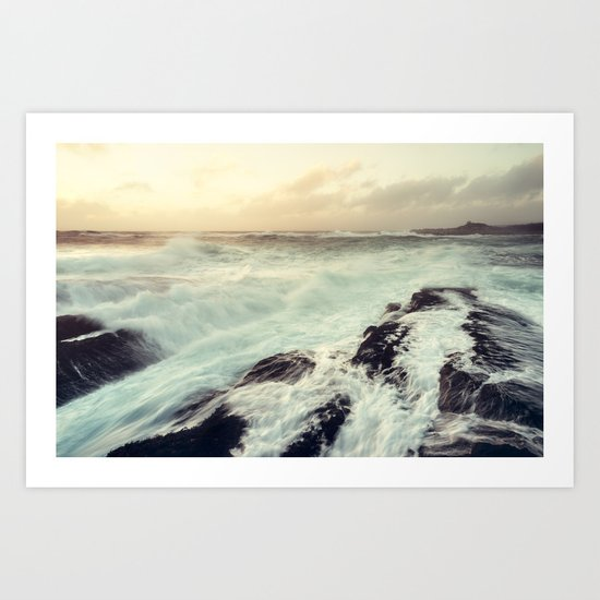 Washed in Surf Art Print