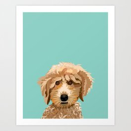 Poodle pet portrait dog breed gifts for pure breed dog lovers Art Print