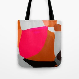 Abstract in Pink, Brown and Grey Tote Bag