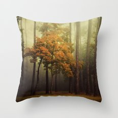The Dark Woods Adorned Throw Pillow