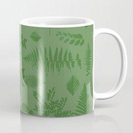 Green eaves on green background Coffee Mug