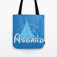 thor Tote Bags featuring Thor by Charleighkat