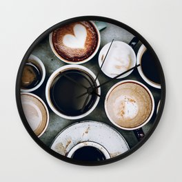 But First, Coffee II Wall Clock