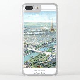 Paris art print Paris Decor office decoration vintage decor eiffel tower of Paris Clear iPhone Case