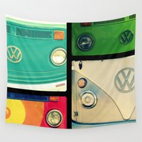 vw Wall Tapestries featuring VW Collage by RDelean