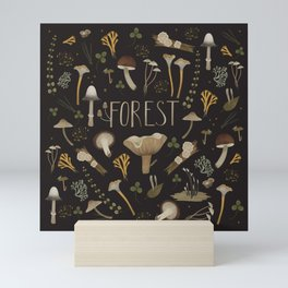 Northern forest (black) Mini Art Print