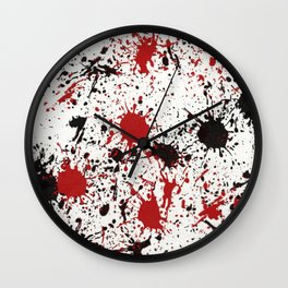 Action Painting No 19 By Chad Paschke Wall Clock