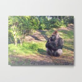 I love this Gorilla Metal Print