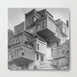 Habitat 67 08 - Mid Century Architecture Metal Print