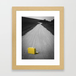 Yellow Lonely Road Framed Art Print