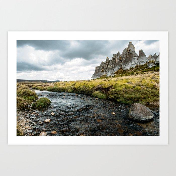 Stony Highland Art Print