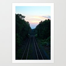 Train Tracks Art Print