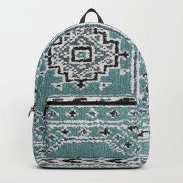 Traditional rug in denim blue Backpack